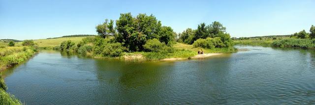 красивые места харьковской области, Изгиб реки с пляжем
