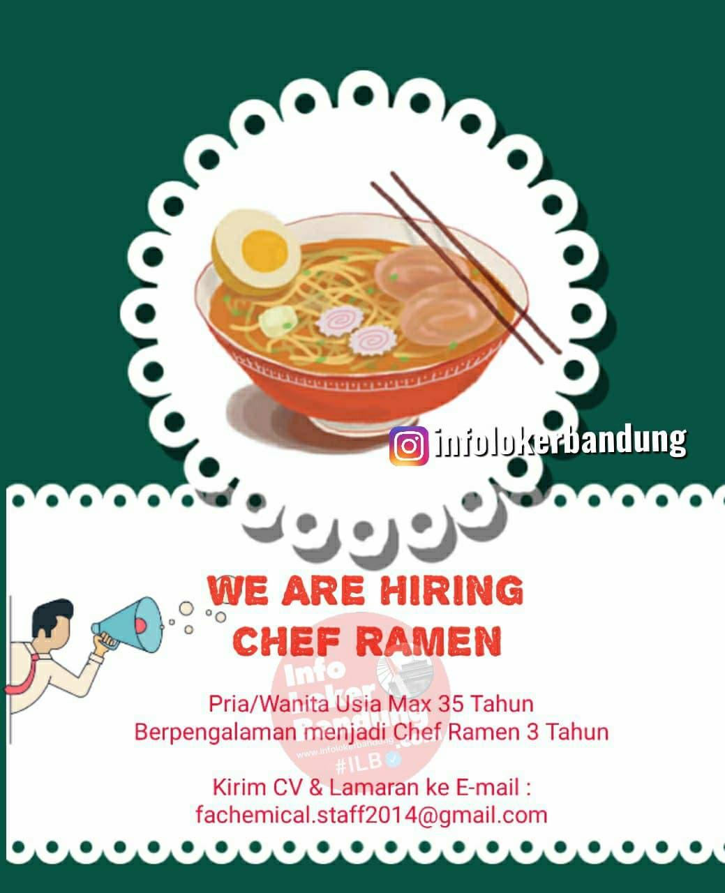 Lowongan Kerja Chef Ramen Bandung Mei 2021