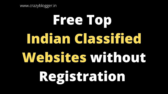 Top Free Indian Classified Submission Sites Without Registration 2020