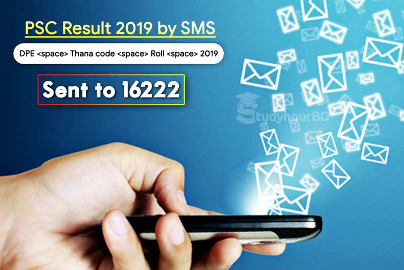 PSC Result 2019 by SMS