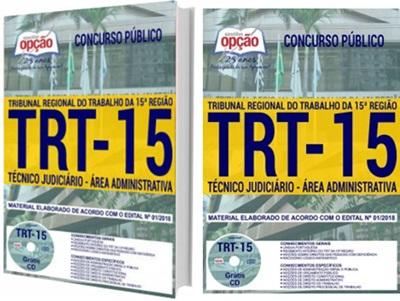 Apostila Concurso TRT-15 Técnico Judiciário 2018