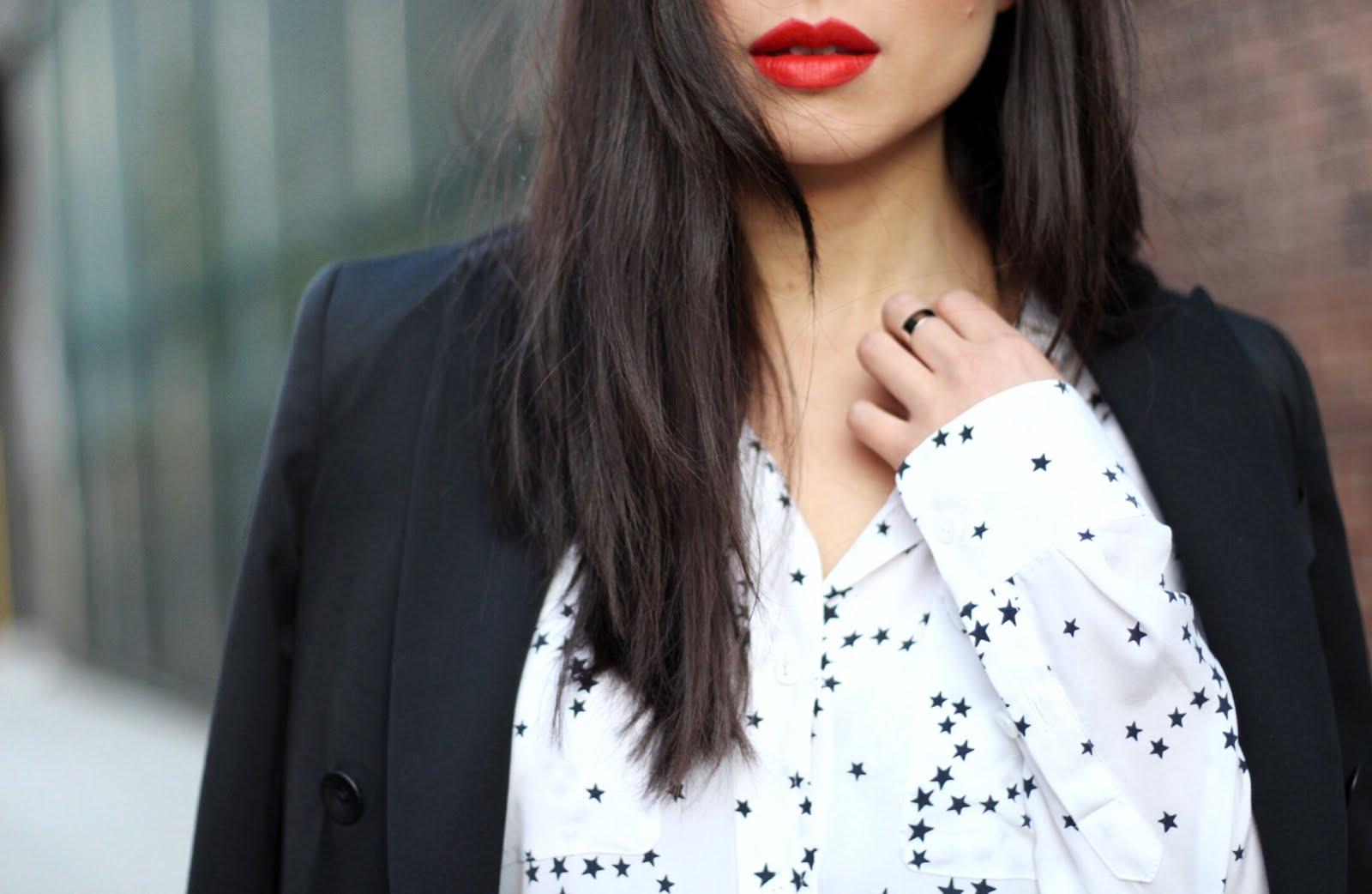 Rag & Bone scroll blazer black flares equipment blouse