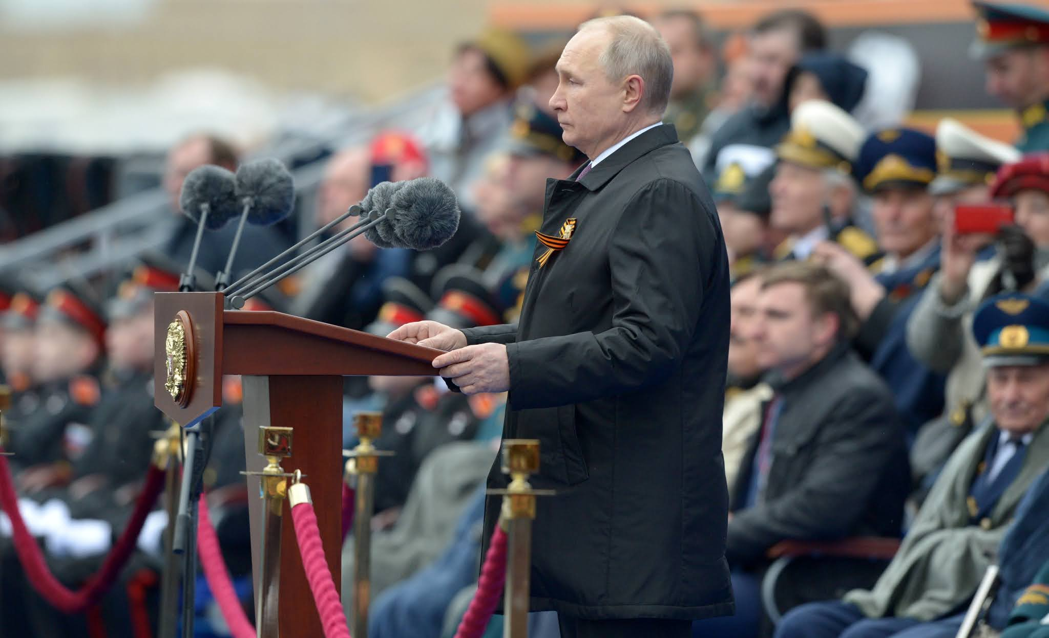 Putin alertó un discurso en la plaza Roja en Moscú que las ideas nazis aún siguen vivas