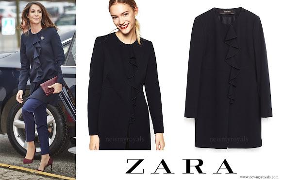 Princess Marie wears ZARA Front Frill Frock Coat