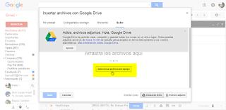 Subir archivos a google drive con gmail