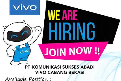 Info Lowongan Kerja Promotor Vivo Bekasi