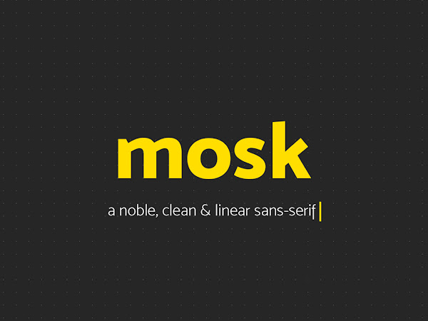 Download Mosk Clean Typeface Free