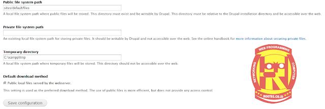 setting temporary file drupal ketika sudah di onlinekan