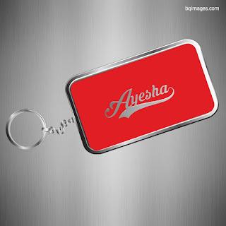 Ayesha Name keychain