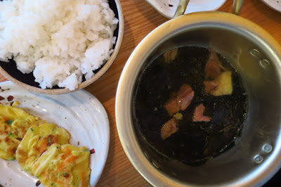 The Gogijip (고깃집,), rice jeon seaweed soup