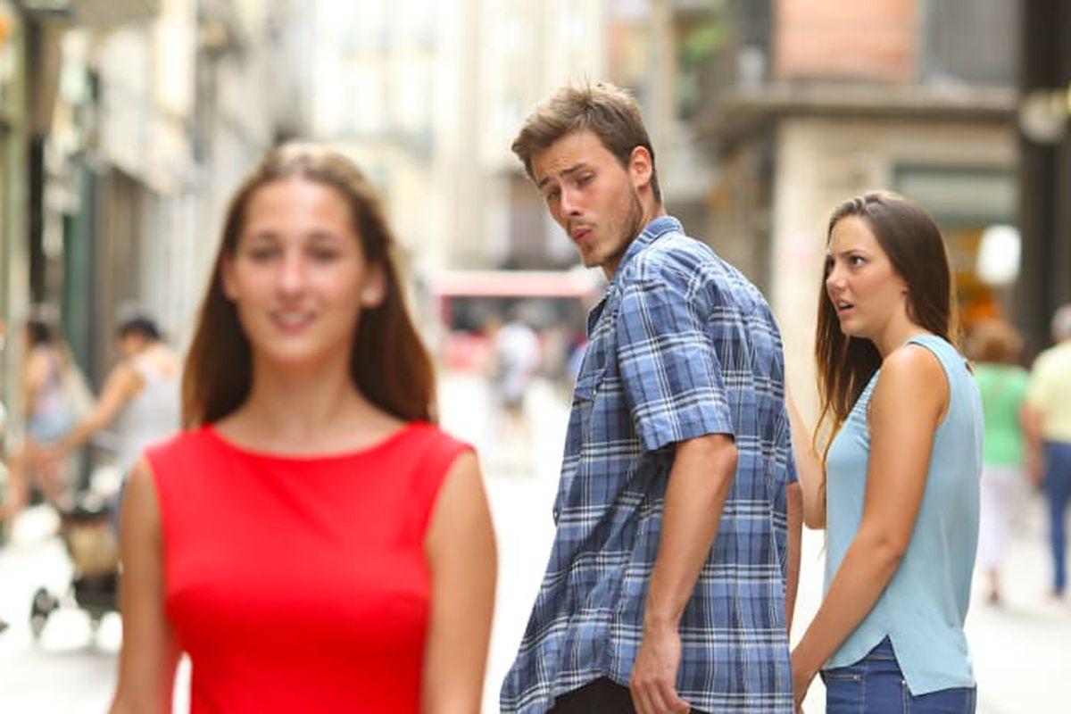 Distracted Boyfriend Meme - Blank Template