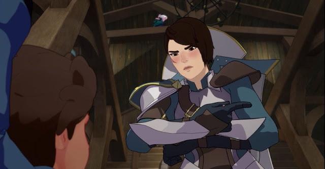 Amaya, personaje sorda que usa la lengua de signos en la serie de televisión El Príncipe Dragón