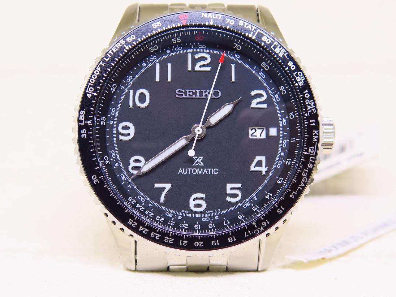 SEIKO PILOT MILITARY DIAL AVIATION BEZEL - SEIKO SRPB57K1 - AUTOMATIC 4R35B  Mine coins - make mone
