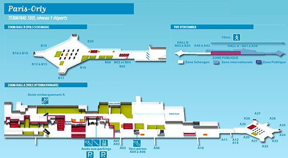 Plan aéroport Orly sud