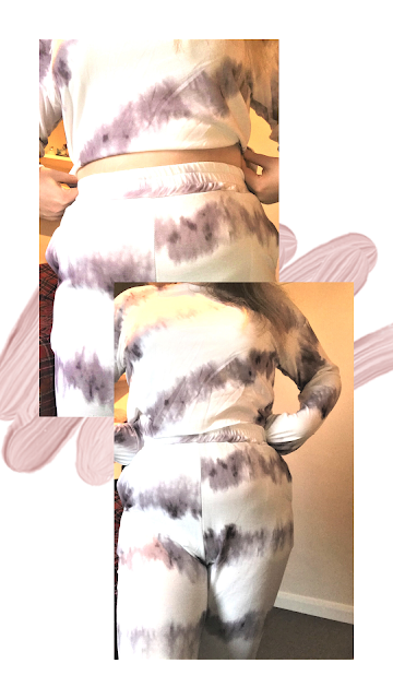 Grey Tie Dye Oversized Sweatshirt Loungewear Set FemmeLuxe