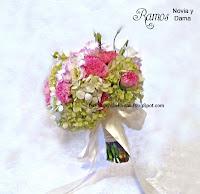 diseñador floral Ramo de novia en colores pastel  romantico peony peonias rosado  blanco ivory