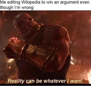 reality can be whatever i want Thanos