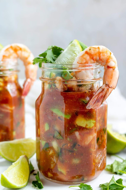 Mexican Shrimp Cocktail | WonkyWonderful