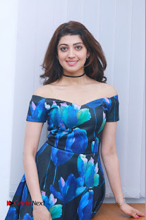 Actress Praneetha Latest Stills in Floral Short Dress at Enakku Vaaitha Adimaigal Press Meet  0011.jpg