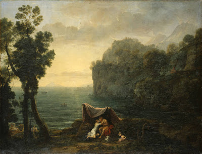 Claude Lorrain - Paysage côtier avec Acis et Galathée,1657.