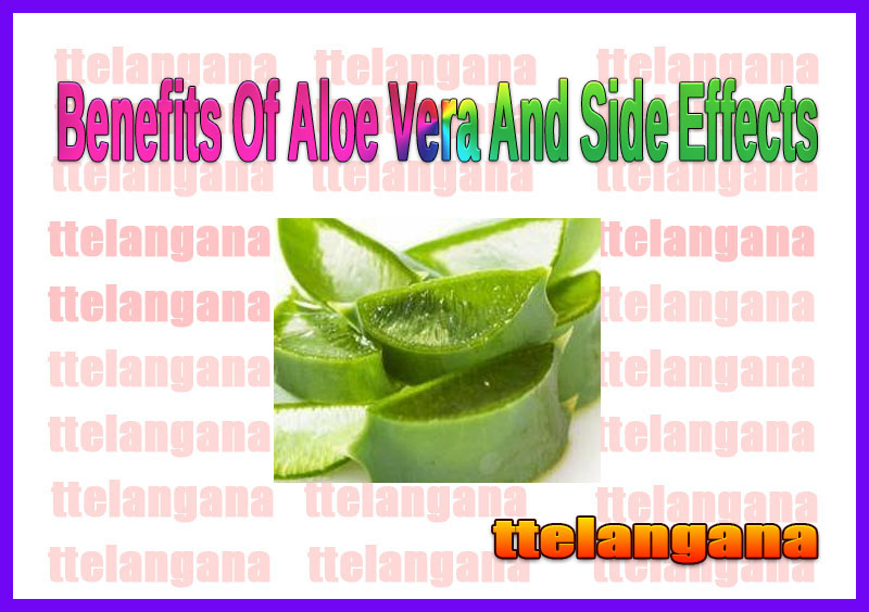 Benefits Of Aloe Vera And Side Effects