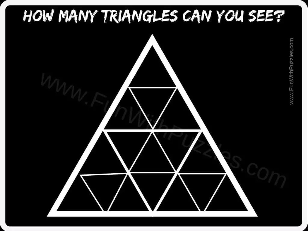 Can you count the Number of Triangles in the Picture?