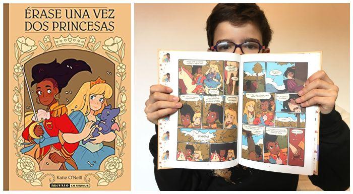 Cómic infantil juvenil 8 años regalar navidad Érase una vez dos princesas