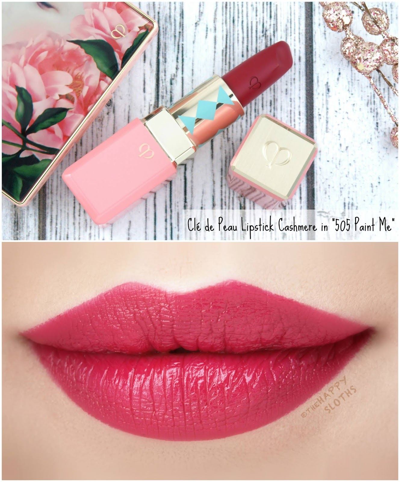 "Clé de Peau | Holiday 2018 Féeries d'Hiver Collection | Lipstick Cashmere in ""505 Paint Me"": Review and Swatches"