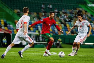 ملخص مباراة البرتغال واسبانيا المباراة الودية