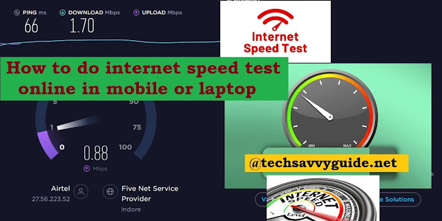 How to do Internet Speed Test
