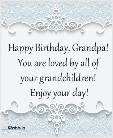 Happy Birthday to My Sweet Grandfather!