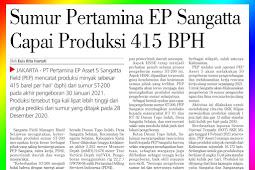Pertamina EP Sangatta well reaches production of 415 BPH