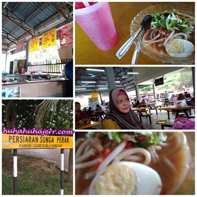 Gambar Kenangan Makan Laksa Kuala Di Tepian Sungai Perak @ Medan Cendol & Laksa Kuala Kangsar
