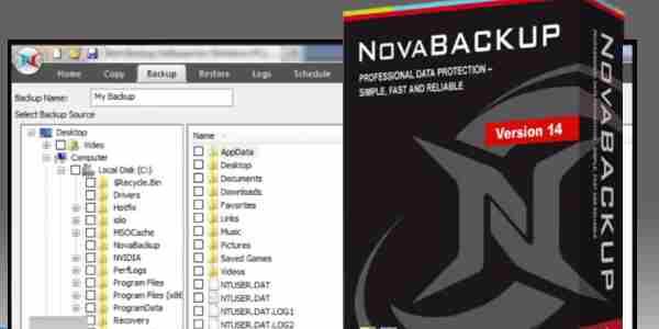 تحميل برنامج عمل نسخة احتياطية للملفات NovaBACKUP