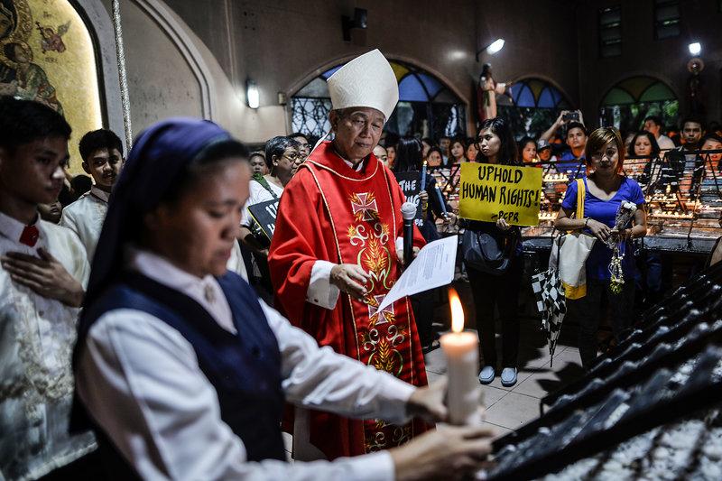 catholic, anti-duterte, protest