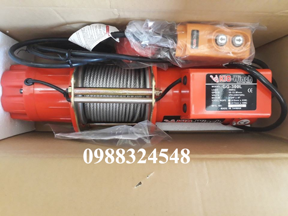 Tời cáp điện KIO GG-300L 300kg
