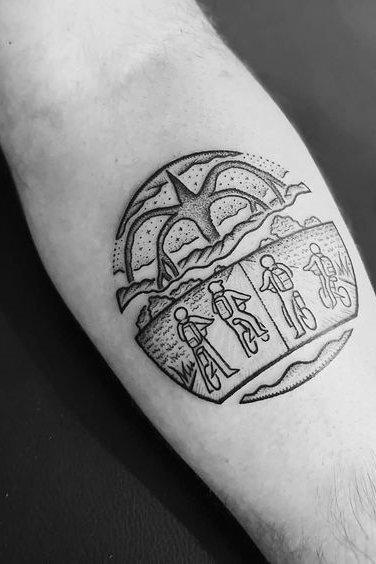 Stranger Thing Mind flayer Tattoo