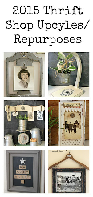 Many more thrift shop decor ideas from Organized Clutter