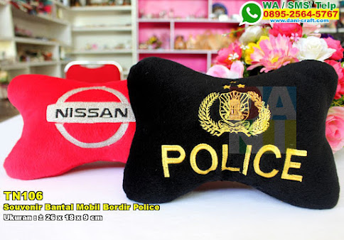 Souvenir Bantal Mobil Bordir Police
