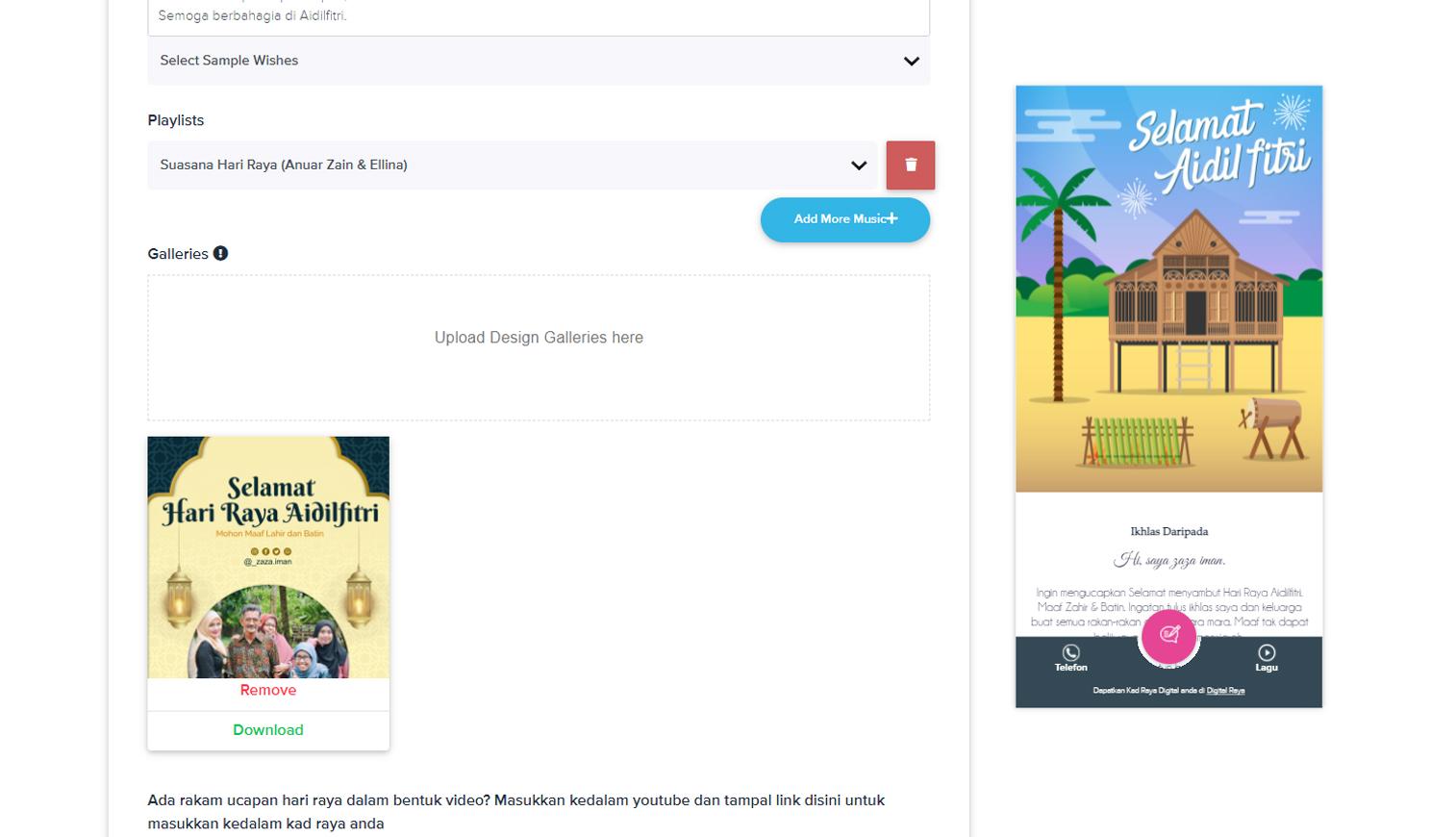 Kirim Kad Raya Secara Digital, Lebih Pantas, Mudah dan Murah dengan Envitee