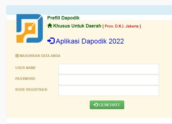 Cara Download/Generate Prefill Dapodik Versi 2022 Tahun Pelajaran 2021/2022