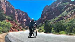 Cycling at Kolob Canyon, Zion National Park
