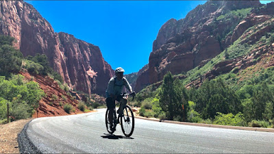 Cycling at Kolob Canyon, Zion National Park