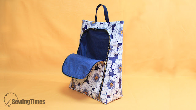 Waterproof Hanging Pouch Bag Tutorial [sewingtimes]