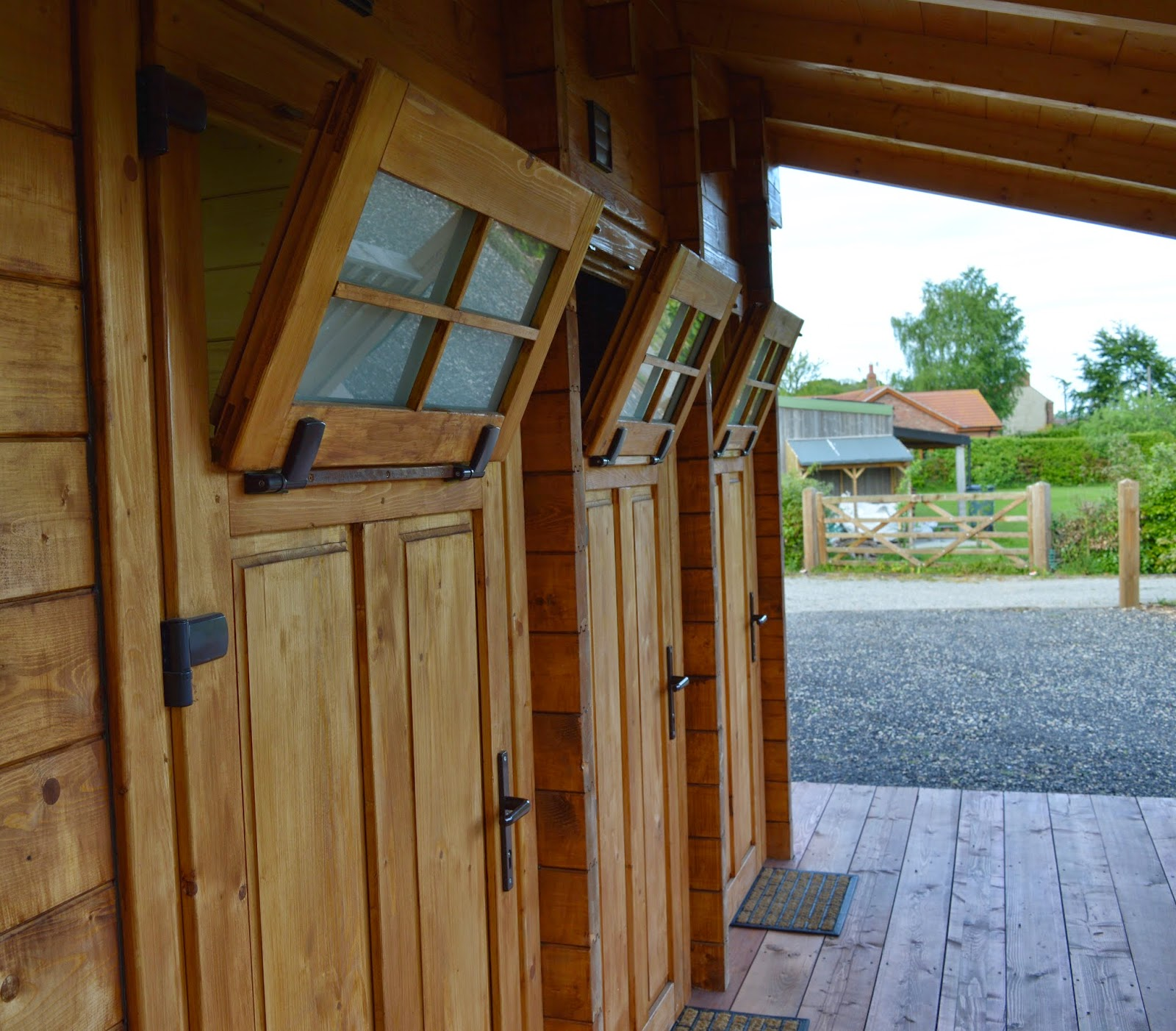 Acorn glade glamping in Yorkshire - showers
