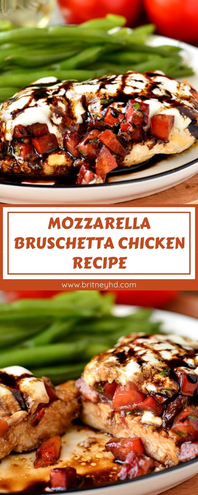 MOZZARELLA BRUSCHETTA CHICKEN RECIPE