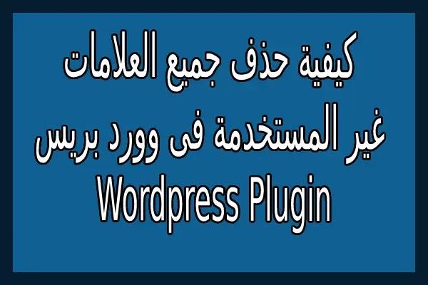 كيفية حذف جميع العلامات غير المستخدمة فى وورد بريس Wordpress Plugin