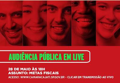 Prefeitura de Cajati faz audiência pública on-line com transmissão ao vivo