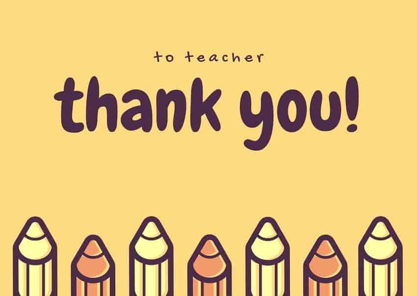 to teacher thank you image