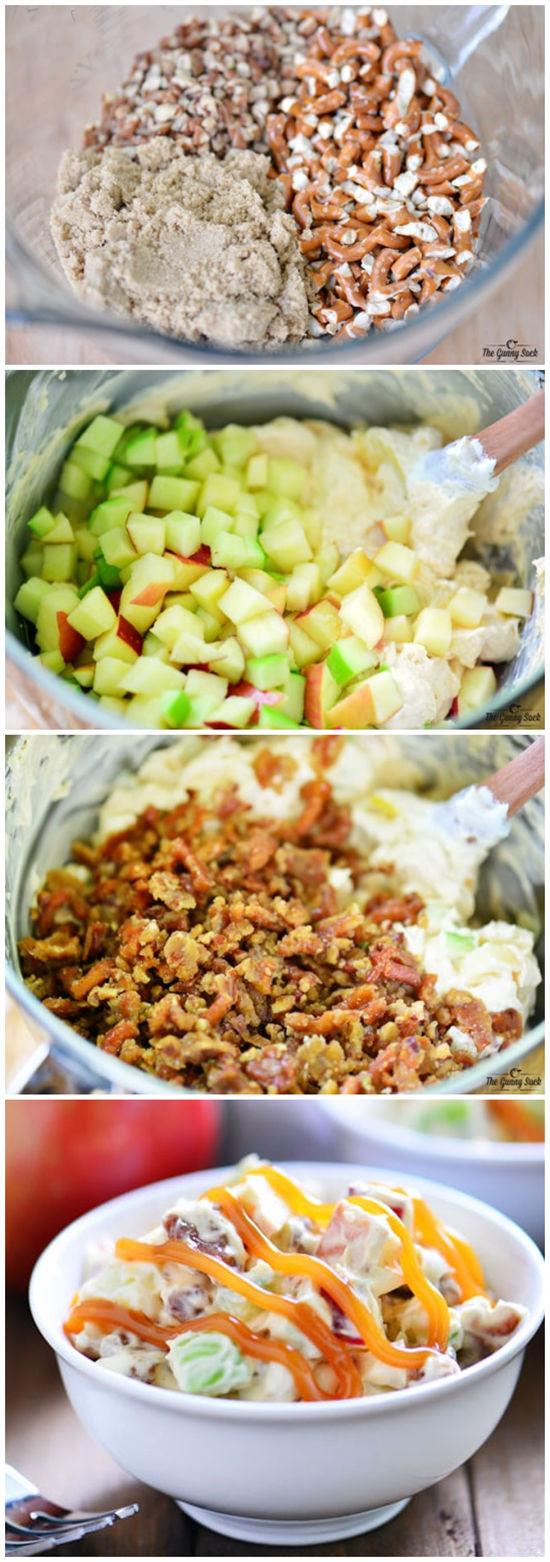 Caramel Apple Pretzel Salad